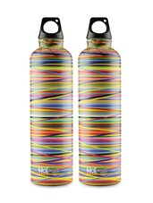 Set Of 2 Multi Stainless Steel Medium Bottle - By