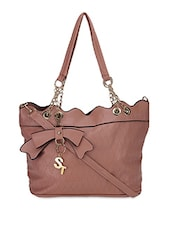 Brown Faux Leather Printed Shoulder Bag - By