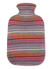 Multicolored Cotton Hot Water Bottle Cover - By - 9634064