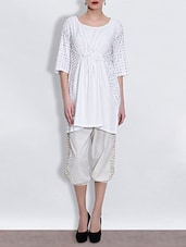 White Sequined Cotton Tunic - By