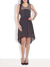 Black Sleeveless Asymmetrical Dress - By