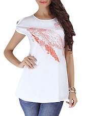 White Multi Printed Cotton Top - By
