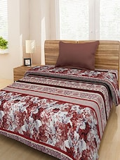 Multicolored Printed Polyacrylic Double Bed Ac Blanket - By
