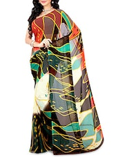 Multicoloured Faux Georgette Printed Saree - By