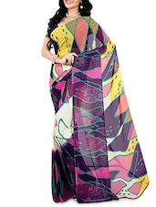 Multicoloured Faux Georgette Printed Saree - By - 9656444