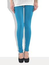Blue Cotton Leggings - By