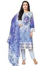 Multicolored Printed Semi-stitched Suit Set - By - 9665987