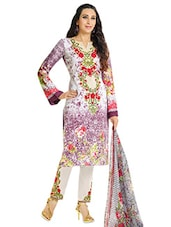 Multicolored Printed Semi-stitched Suit Set - By - 9665990