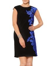 Black N Blue Printed Shift Dress - By