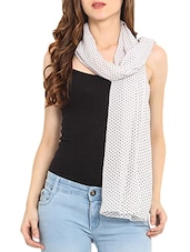 White Polka Dots Scarf - By