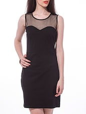 Black Sleeveless Bodycon Dress - By