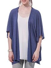 Blue Half-sleeved Shrug - By