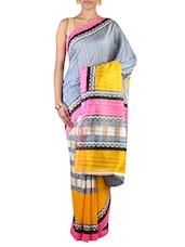 Multi Colored Art Silk Printed  Saree - By