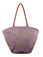 Purple Floral Printed Shoulder Bag - By