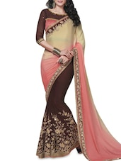 Multicolored Patch Worked N Embellished Saree - By