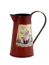 Maroon Metallic Watering Can - By