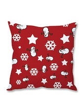 Red Christmas Theme Printed Cushion Cover - By