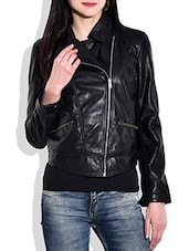 Solid Black Full Sleeved  Jacket - By