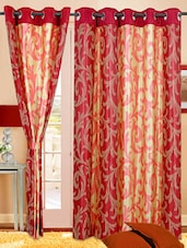 Maroon & Gold Eyelet Curtain -  online shopping for Curtains