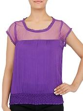 Purple Rayon Slub Top - By