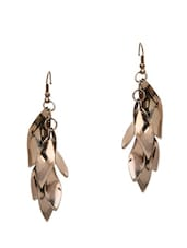 BLACK TWISTED HANGING EARRING - By