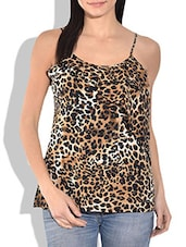 Multicolored Leopard Print Spaghetti Top - By