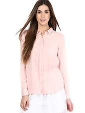 Solid Light Pink Full Sleeved Shirt - By