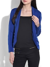 Solid Royal Blue Acrylic Spandex Shrug - By