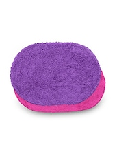 Set Of 2 Pink And Purple Oval Cotton Doormats - By