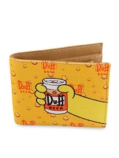 Yellow Here's Homer Canvas Wallet - By