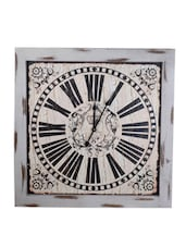 Superdrool, Beige Colored Analog Wall Clock - By