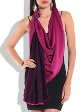 Pink and black woolen  shawl -  online shopping for stoles