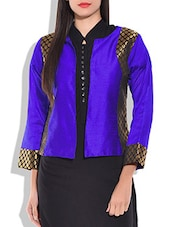 Blue Full Sleeve Short Jacket - By
