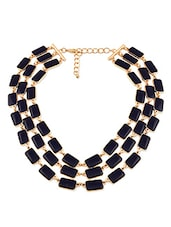 Navy Blue Metal Alloy Necklace - By