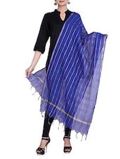 Royal Blue Chanderi Silk Dupatta - By