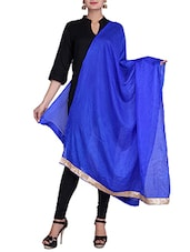 Royal Blue Art Silk Gota Work Dupatta - By