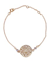Gold Plated Sterling Silver Filigree Pendant Necklace - By