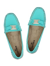 Green Leatherette Loafer - By