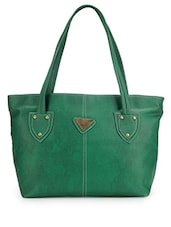 green leatherette handbag -  online shopping for handbags