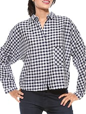 blue checkered cotton shirt -  online shopping for Shirts