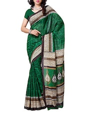 Green Art Silk Saree - By