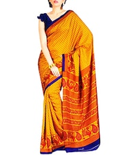 Orange Art Silk Sarees - By