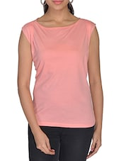 Baby Pink Lycra Cotton Top - By