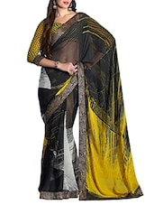 Black Chiffon Saree - By