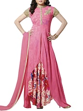 pink Georgette Suit  -  online shopping for Suits