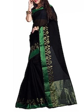 Black ART SILK Saree - By