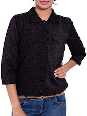 Black Jute Winter Coat - By