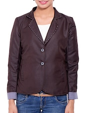Brown Wool Blend Winter Coat - By