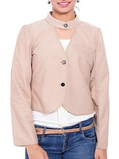 Beige Corduroy Winter Coat - By