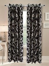 Homefab India Set Of 2 Beautiful Brown Curtains - By